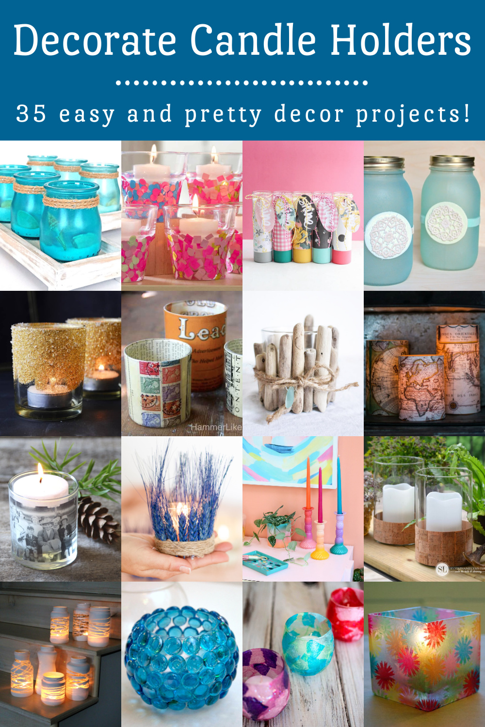 Decorate Candle Holders