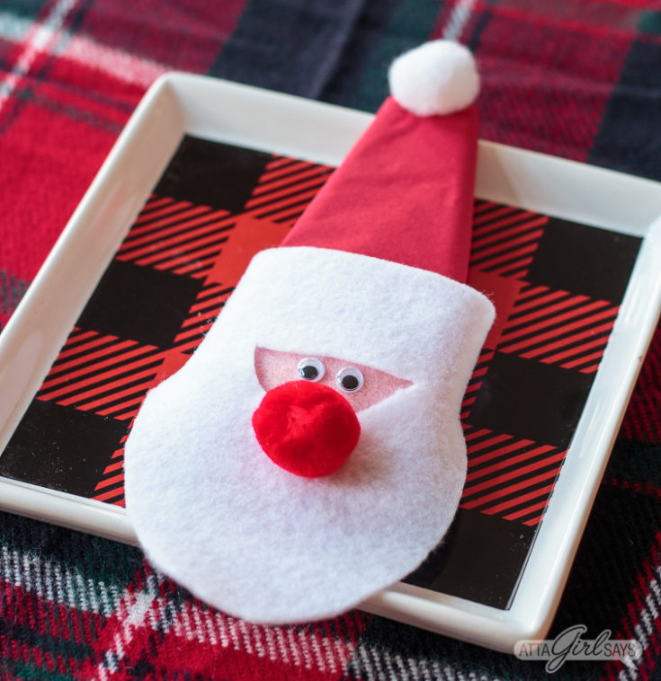 Felt Santa Napkin Ring