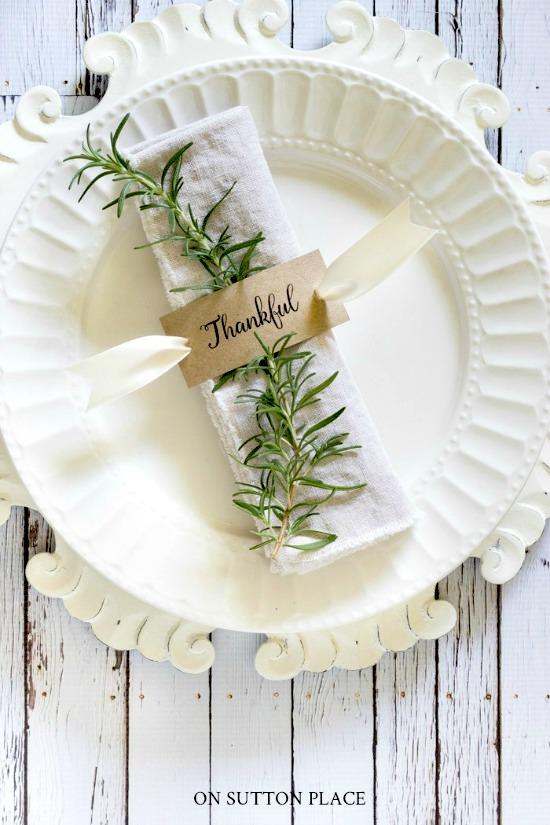 Free Printable Thanksgiving Napkin Rings