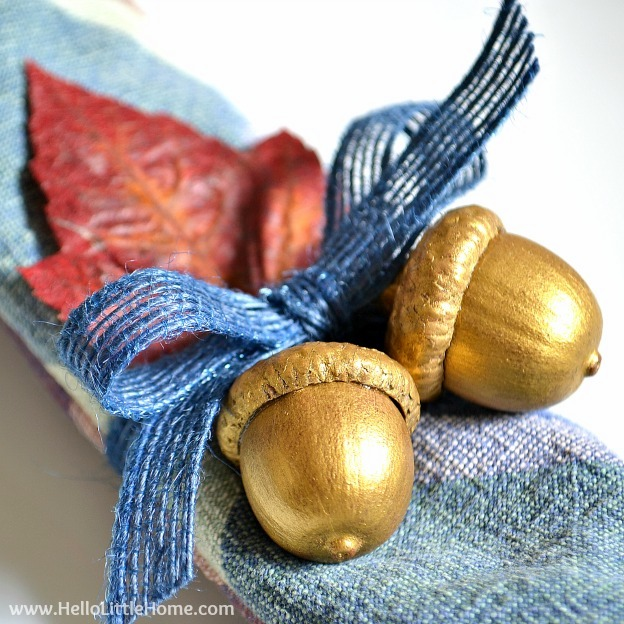 Gilded Acorn Napkin Rings