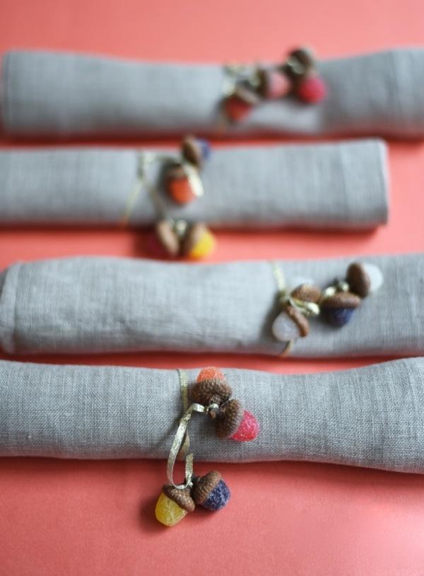 Gumdrop Acorn Napkin Rings