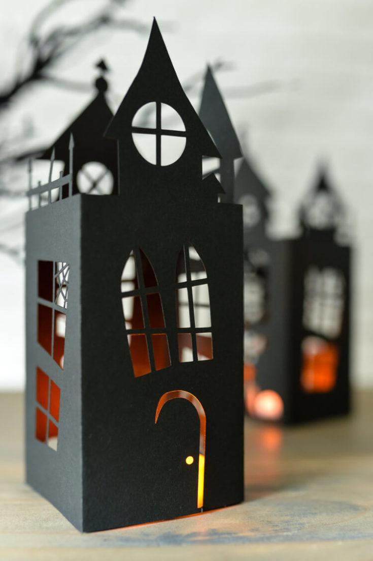 Halloween Haunted House Lantern