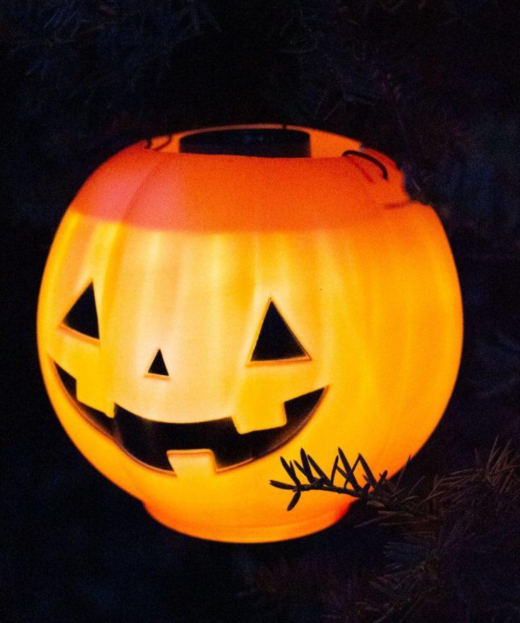 Halloween Pumpkin Pail Lights