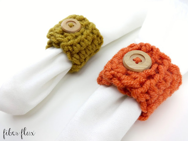 Harvest Napkin Rings with Free Crochet Pattern