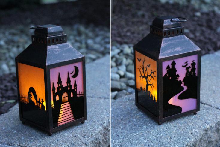 Painted Glass Halloween Lanterns