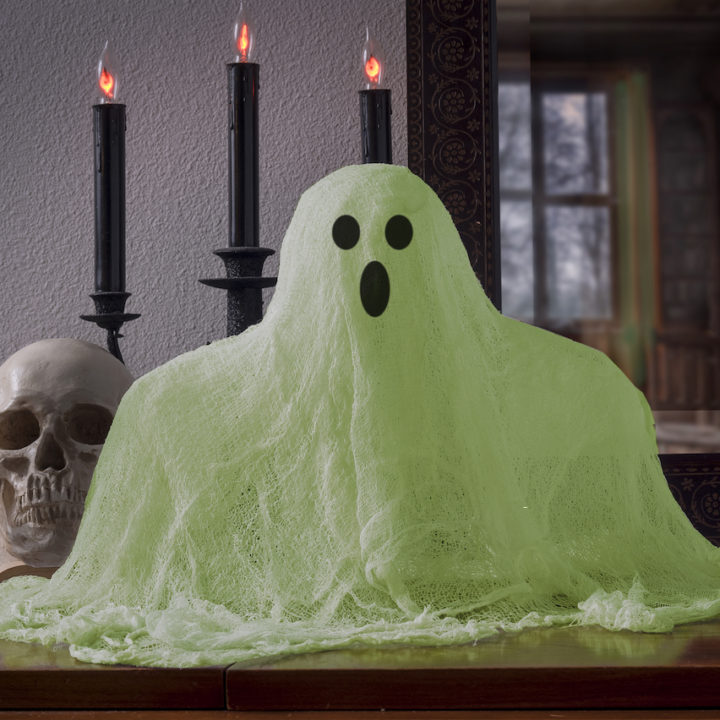 Glowing cheesecloth ghost