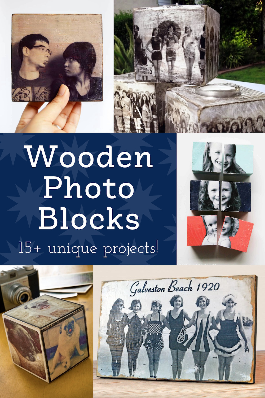 Wooden Photo Blocks