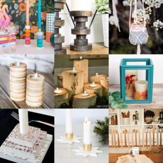 DIY candle holders feature image
