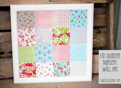 Fat Quarter Nursery Wall Art