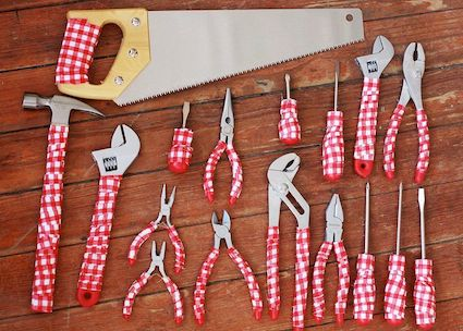 DIY Gingham Tool Set