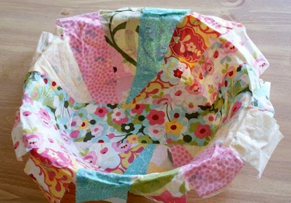 DIY fabric bowls with Mod Podge