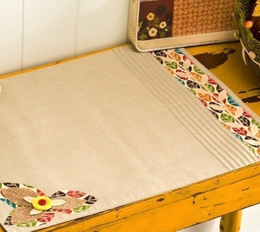 DIY applique placemats for fall or Thanksgiving
